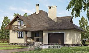 275-003-R Two Story House Plans and mansard with garage, luxury House Online