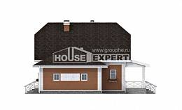 160-006-R Two Story House Plans with mansard roof and garage, beautiful House Planes