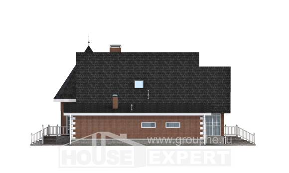 220-002-L Two Story House Plans with mansard with garage under, beautiful Tiny House Plans