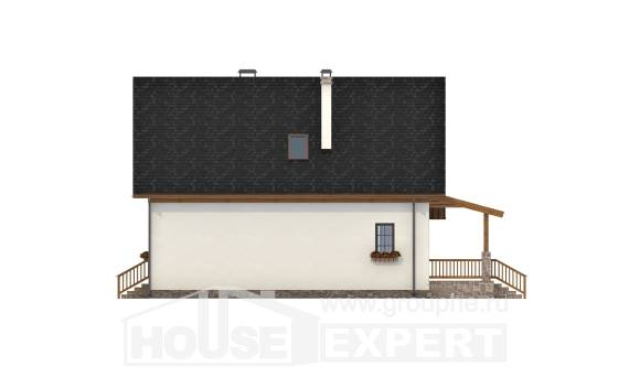 140-001-L Two Story House Plans with mansard roof, beautiful Design Blueprints