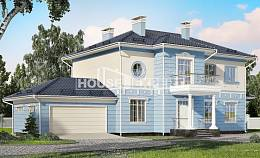 285-003-L Two Story House Plans with garage, classic Home House