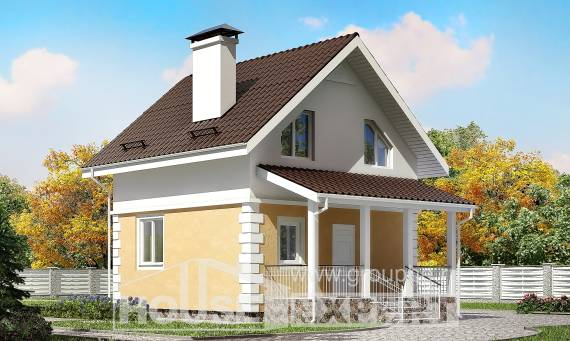 070-002-R Two Story House Plans with mansard roof, modern Construction Plans