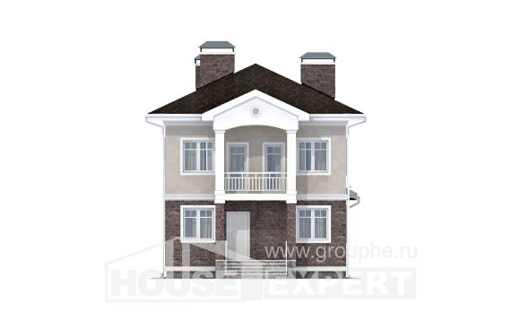 120-001-L Two Story House Plans, modern Villa Plan