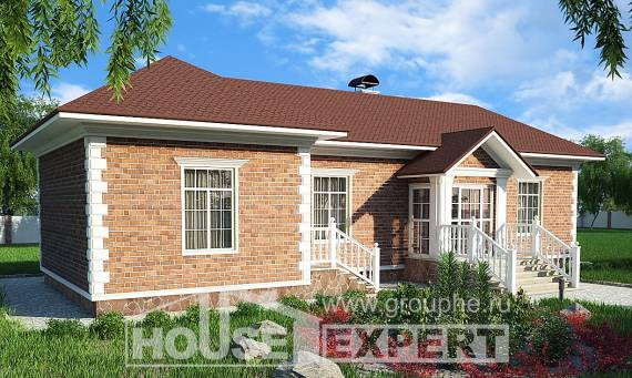090-001-L One Story House Plans, classic Design House