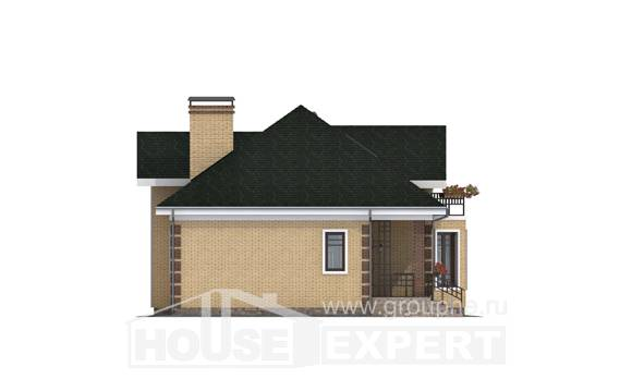 150-013-L Two Story House Plans with mansard roof, classic Architects House