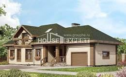 180-010-R Two Story House Plans and mansard with garage in back, classic House Building