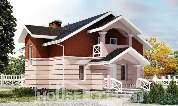 155-009-L Two Story House Plans with mansard roof, classic Online Floor