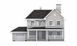 190-001-L Two Story House Plans with garage in front, classic Design Blueprints