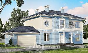 285-003-L Two Story House Plans and garage, luxury Home Blueprints