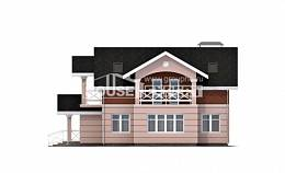 155-009-L Two Story House Plans with mansard, economical Dream Plan