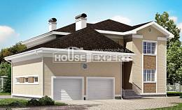 335-001-L Two Story House Plans and garage, a huge Plans To Build