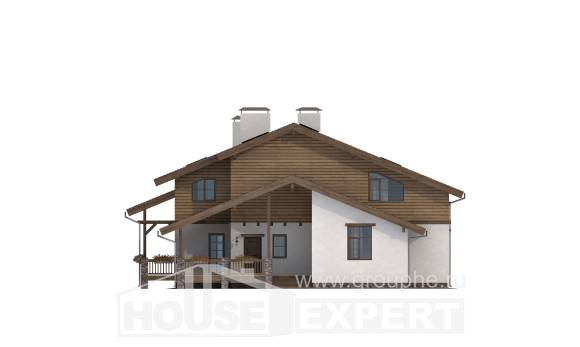 210-006-R Two Story House Plans with mansard, modern Blueprints of House Plans