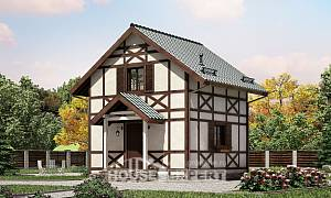 060-002-R Two Story House Plans with mansard roof, available House Planes