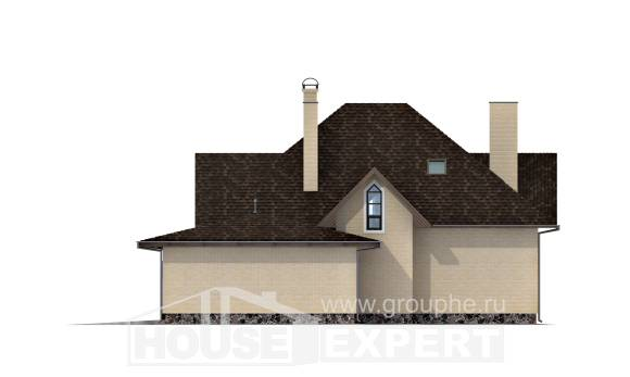 275-003-R Two Story House Plans with mansard roof with garage in front, beautiful House Online