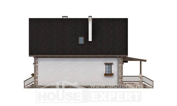 140-002-L Two Story House Plans with mansard roof, available House Planes