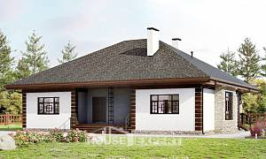 135-003-R One Story House Plans, classic Home House