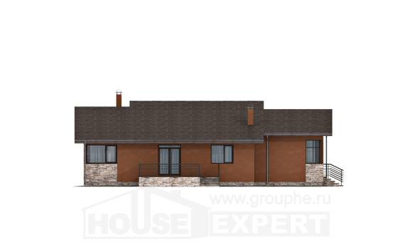 130-007-R One Story House Plans, cozy Dream Plan