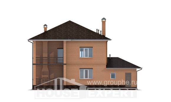 245-003-L Two Story House Plans with garage in front, classic Architects House