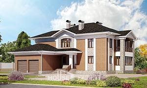 520-002-L Three Story House Plans with garage in back, best house Villa Plan