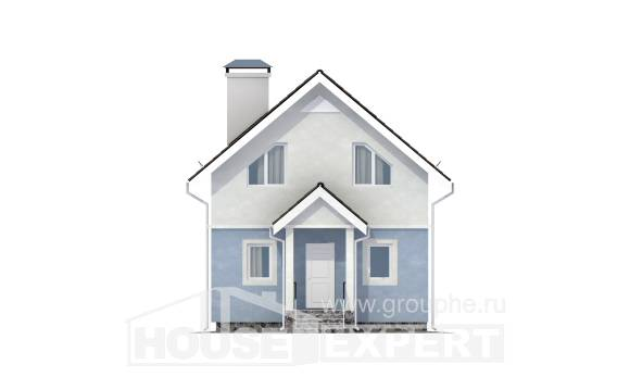 095-002-R Two Story House Plans with mansard, classic Dream Plan
