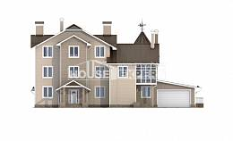 555-001-L Three Story House Plans and mansard and garage, best house Blueprints of House Plans