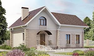 150-012-L Two Story House Plans with mansard roof, best house Plans Free