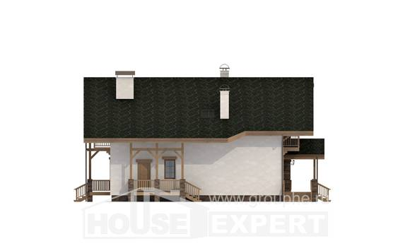 250-003-L Two Story House Plans and mansard, beautiful Models Plans