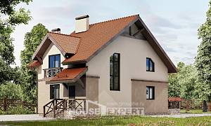 120-003-L Two Story House Plans with mansard roof, the budget Dream Plan