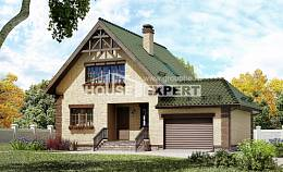 160-007-R Two Story House Plans and mansard with garage under, available Villa Plan