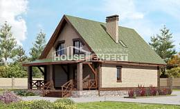 160-011-R Two Story House Plans and mansard, modest Home House