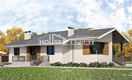 135-002-R One Story House Plans with garage, best house House Planes