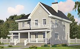 190-001-L Two Story House Plans with garage in front, a simple Plan Online