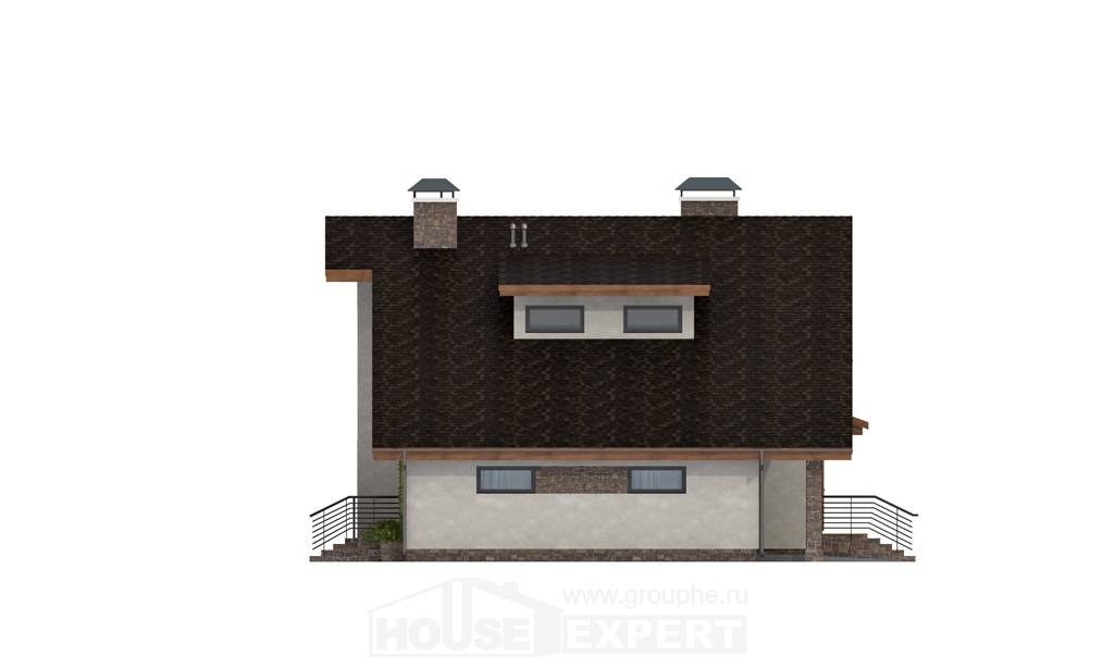 180-008-L Two Story House Plans with mansard roof and garage, beautiful Plan Online,
