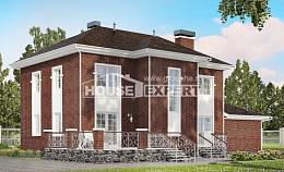 180-006-L Two Story House Plans with garage, luxury Home Plans