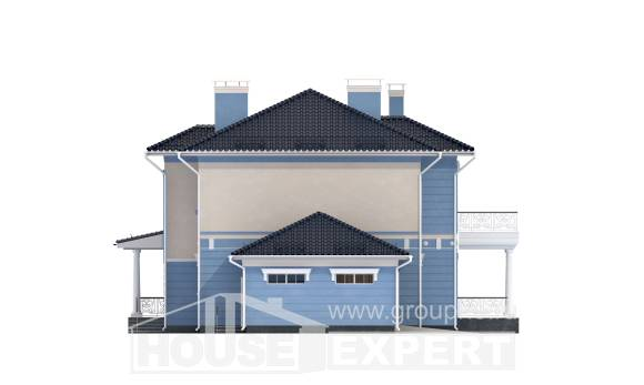 285-003-L Two Story House Plans with garage, a huge Home Blueprints