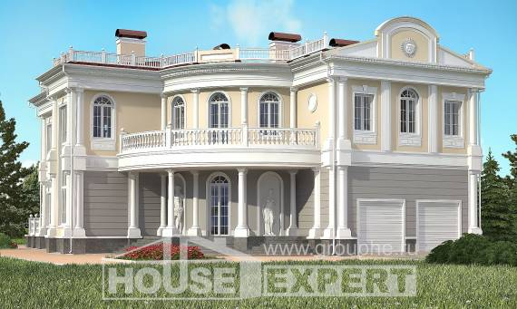 505-001-R Two Story House Plans and garage, luxury Home Plans