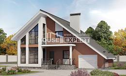 200-007-R Two Story House Plans and mansard with garage in back, best house Cottages Plans
