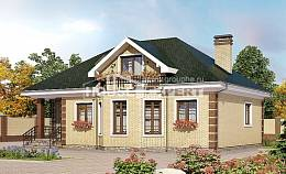 150-013-L Two Story House Plans with mansard roof, economical Online Floor