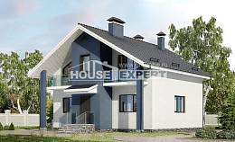 150-005-R Two Story House Plans with mansard, best house Villa Plan