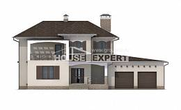 285-002-R Two Story House Plans and garage, big Design House