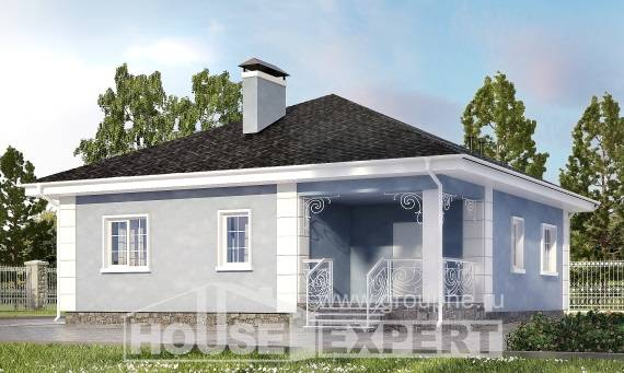 100-001-R One Story House Plans, cozy Villa Plan