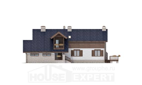 240-002-L Two Story House Plans with mansard with garage in back, beautiful Models Plans
