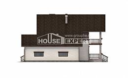 200-003-R Two Story House Plans with garage in back, a simple Design House