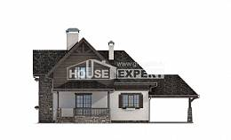 160-002-L Two Story House Plans and mansard with garage under, the budget Home Blueprints