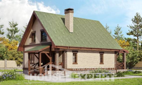 160-011-R Two Story House Plans and mansard, the budget Design Blueprints
