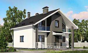 150-005-L Two Story House Plans and mansard, economical Building Plan