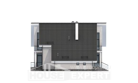 200-007-L Two Story House Plans with mansard roof and garage, cozy Drawing House