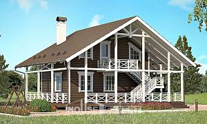 080-001-R Two Story House Plans with mansard roof, modest Home Blueprints