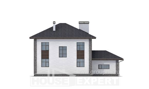 185-004-L Two Story House Plans with garage in back, spacious Planning And Design