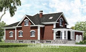 600-001-R Three Story House Plans with mansard with garage under, beautiful Planning And Design